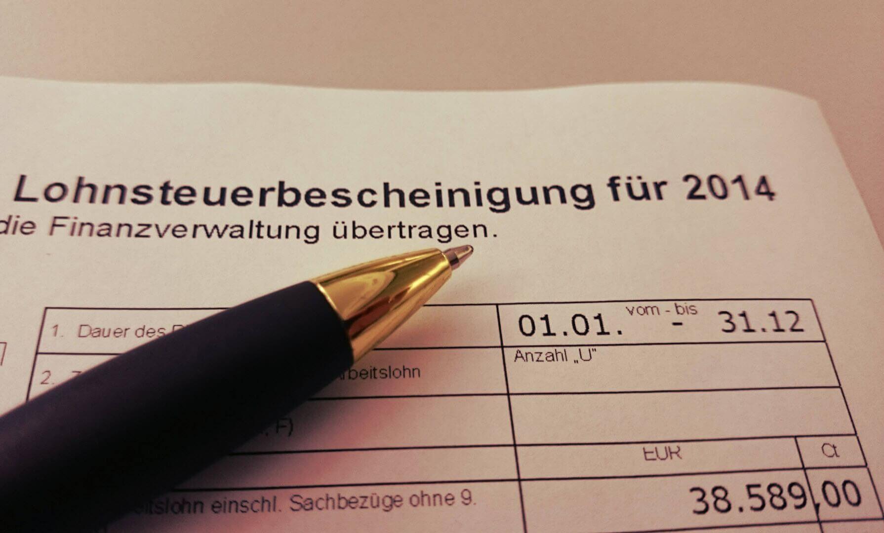 Formulare für die Lohnsteuer