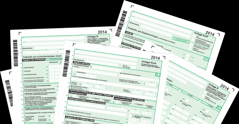 Formulare für die Steuererklärung 2014