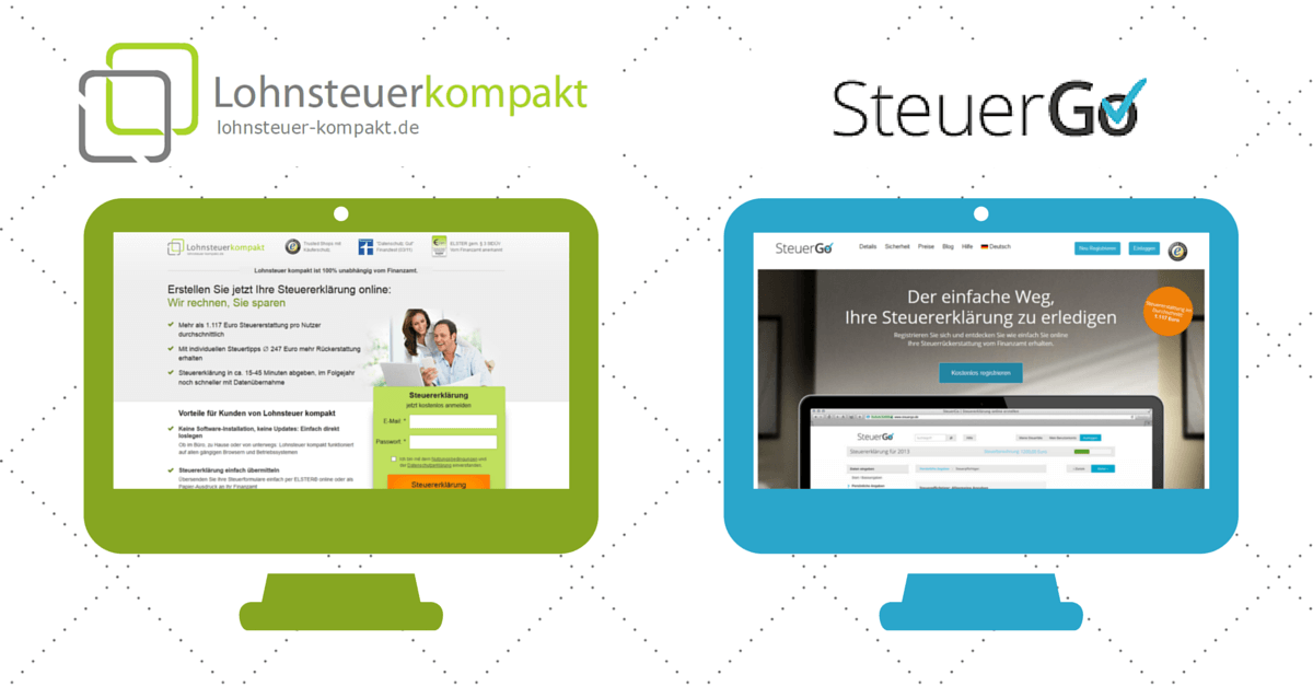 Last-Minute-Steuer-Erklärung: Mit den Web-Diensten SteuerGo.de und Lohnsteuer-kompakt.de sparen