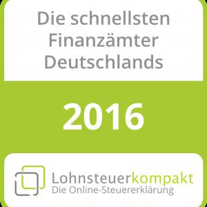 Schnellstes Finanzamt 2016