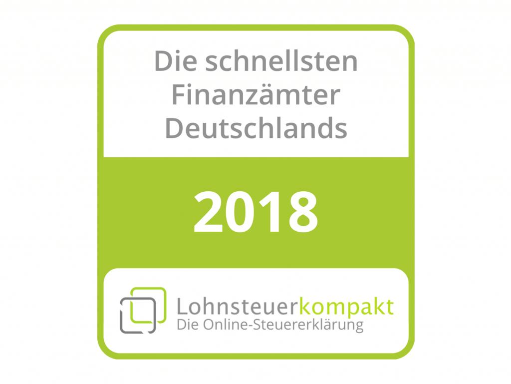Deutschlands schnellste Finanzämter 2018
