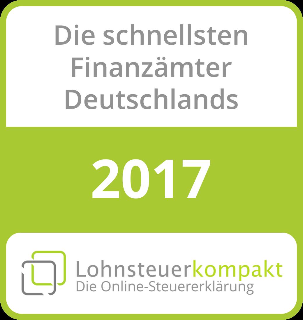 Deutschlands schnellste Finanzämter 2017