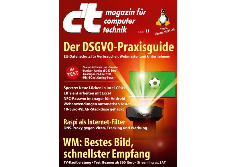c't-Magazin (Heft 11/2018): Richtig gegensteuern - Software für die Steuererklärung