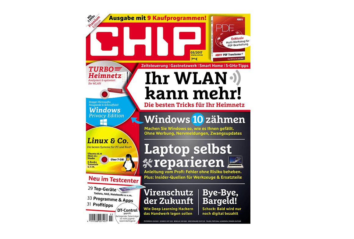 Chip (Heft 03/2017): Gib mir mein Geld zurück
